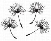 Dandelion Seed Vinyl Decals (Set of 4) MEDIUM, Dandelion, Home Decor, Office Decals, Window Stickers