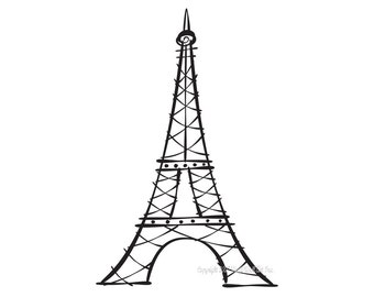 Eiffel Tower Vinyl Decal size LARGE, Home Decor, Office Decor, Window Decal, Wall Decal, Travel Design, Paris Decal,