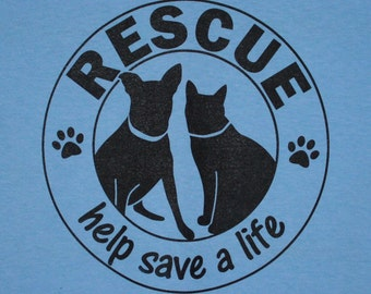 Rescue Help Save a Life Womens Tee
