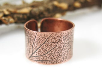 Hydrangea Petal Ring, Handmade Copper RIng size 6 or 7