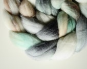 MISTY MORNING 1 handpainted superwash merino spinning fiber 4.1oz