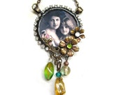 Vintage style necklace - Mother and daughter (v66)