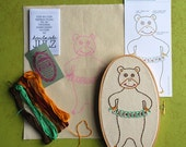 Counting Bear : DIY EMBROIDERY KIT