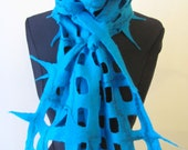 Special order for Nadine 2 Nuno Felted Scarf  1 white e 1 black