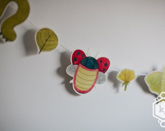 Insect Collection Illustrated Garland