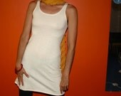 hemp clothing for women - hemp tank / mini dress - 100% natural hemp and organic cotton - custom made to order