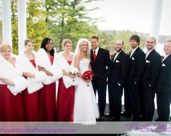 White Mink FAUX FUR STOLE,  weddings Faux Fur stole, Fur mink stole, wrap, shrug, wedding shawl, weddings, hand muffs, Bridal faux fur stole