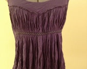 Vintage Purple/Violet Tank Blouse, Greek Inspired, Size Medium