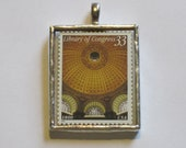 Postage Stamp Pendant - Library of Congress