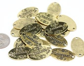 "8pcs Antique Gold Handmade Oval Connector 32mmx18mm 1-1/4""x3/4"" Tag Charm"