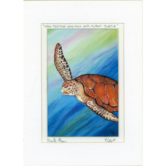 Teenage Non Mutant Non Ninja Turtle Sea Tortoise Print 4 of 250