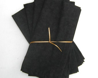 Black Cloth Napkins Set of 4
