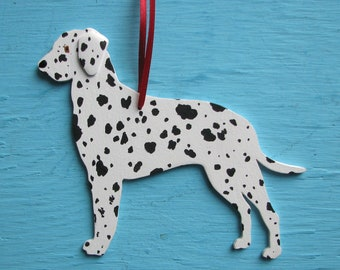 Dalmatian Dog - Handpainted Wood Ornament Decoration