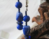 SALE-Blue Mood Earrings by Diana