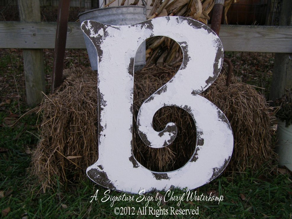 Large wooden letter b wood letter wooden guest book for Big wooden letter b