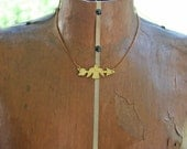 LAST ONE totem pole arrow eagle - brass necklace