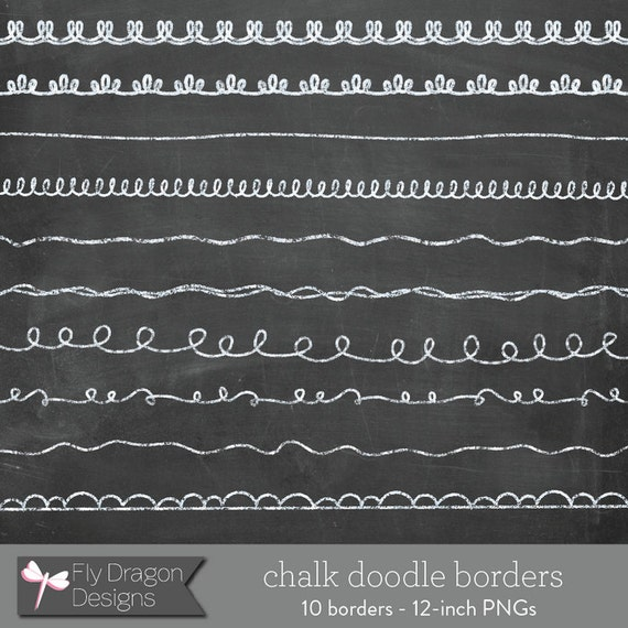 Chalk Clip Art Doodle Borders and FREE Chalkboard Backgrounds ...