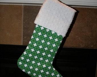 Green Snowflake Christmas Stocking for Men