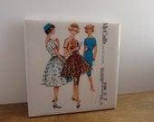 McCalls Susan Vintage Sewing Pattern Coaster