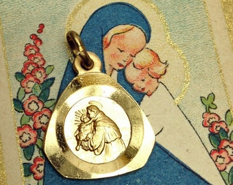 ST. ANTHONY MEDAL 60s Vintage Italy