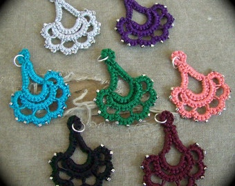 Tatted Lace Pendant  - Special Occasion - Choose Your Color