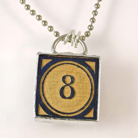 number 8 pendant necklace by xohandworks on etsy