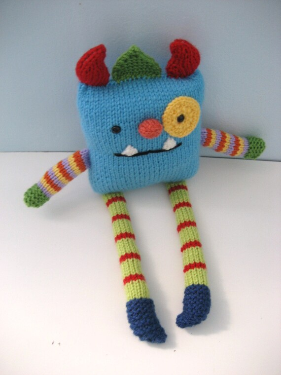 Amigurumi Knits Download : Amigurumi Knit Monster Pattern Digital Download from ...