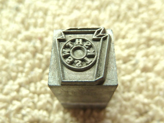 Keystone Masonic Symbol Letters Metal Stamp Antique For Pmc