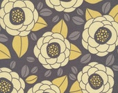 Joel Dewberry Fabric / Bloom in Granite / Aviary 2 Collection - Cotton Quilt Fabric 1 yard