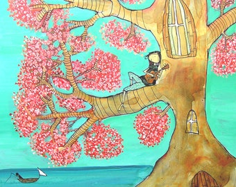 Ukulele Tree - Archival Print
