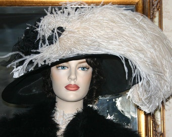 Kentucky Derby Hat Ascot Hat Tea Hat - Run for the Roses