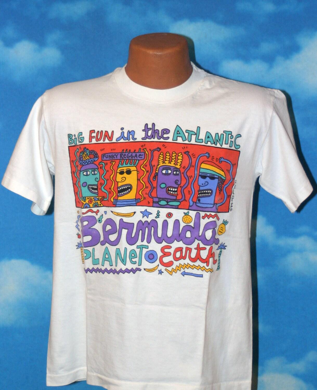 Bermuda Big Hed 1992 Medium Vintage T Shirt By Nodemo On Etsy