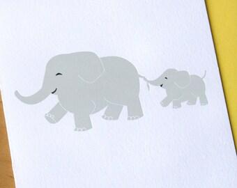 Baby Elephant Letterpress Card