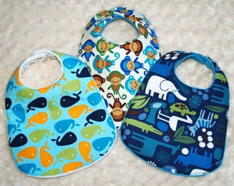 Boutique  Baby Boy  Bibs- Set of 3