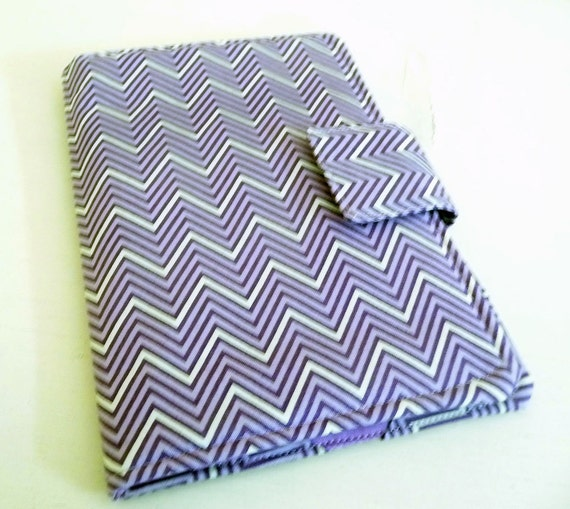Purple Chevron Kindle Keyboard Cover, Book Style Original Kindle Fire Cover