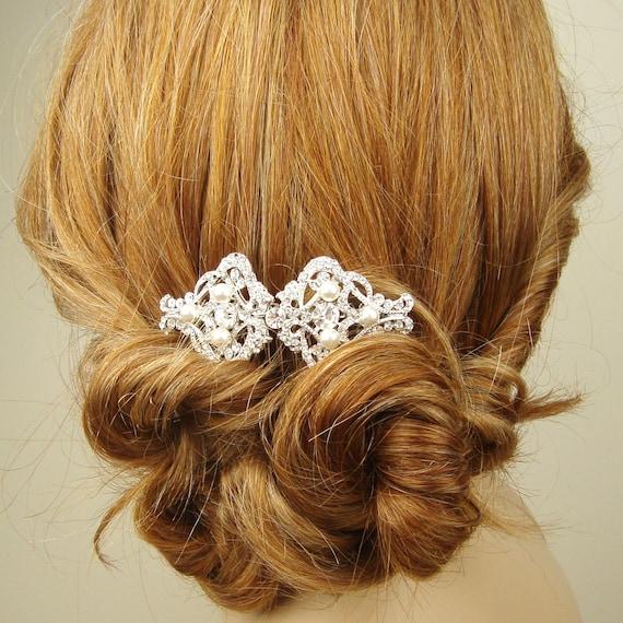 Wedding Vintage Style Hair Accessories: Art Deco Style Bridal Hair Comb Wedding Hair Accessories