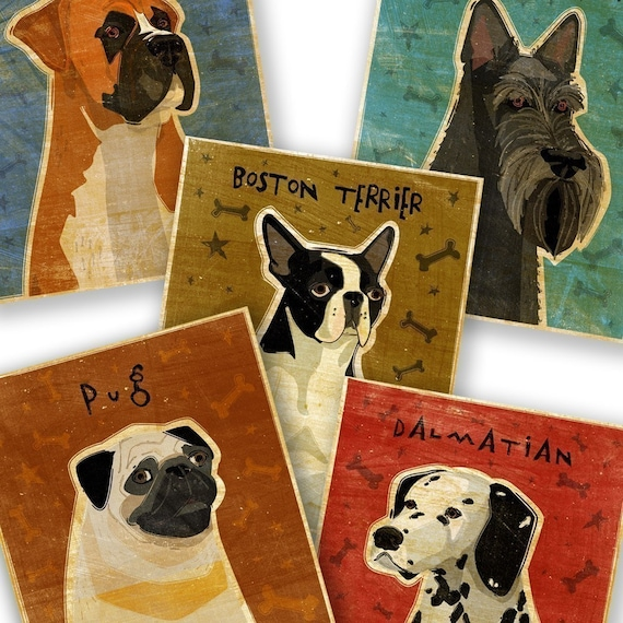 """Pick Your Pooch Dog Art Print- 8"""" x 10"""" Whimsical Dog Print- Dog Wall Art- Boyfriend Gifts for Dog Owners- Gifts for Dogs- Thoughtful Gifts"""