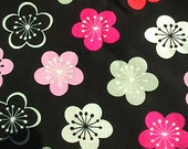 Brother Sister Design Studio fabric 2 yards black with flowers