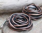 Copper Wire Birds Nest Earrings Copper Wire Jewelry