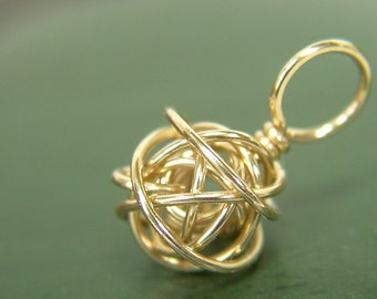 14kt Gold Filled Wire Ball Stitch Marker - Made to Order - US6 to US13