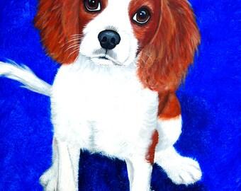 Lily, Cavalier King Charles Spaniel Dog Fine Art Print by Carol Iyer