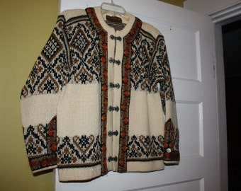 Norwegian Nordstrikk Wool Cardigan Sweater // Winter // Fair Isle
