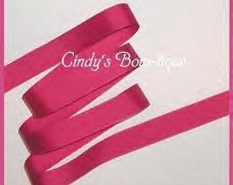 Magenta Ribbon Azalea Grosgrain Dark Pink Offray 5 y 7/8 w cbseveneight
