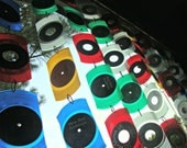 Vinyl Record Suncatcher - One Strand of 5 Pieces Made From Recycled Transparent Colored 45 rpm Records - Choose Your Colors