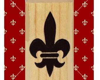 Fleur de Lis Rubber Stamp Iconic Symbol of France Heraldic #304
