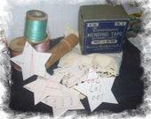 Vintage Ledger Paper Stars