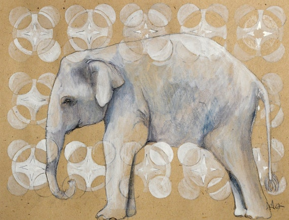 Elephant - print of original Drawing