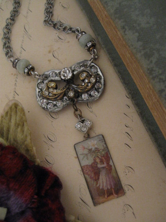 A Fairy's Child ... vintage repurposed fairy necklace