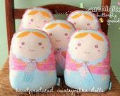 "matryoshka dolls ""carminitas pastel butterfly grandes (pink) "" -- set of (5)-- wholesale 5x"