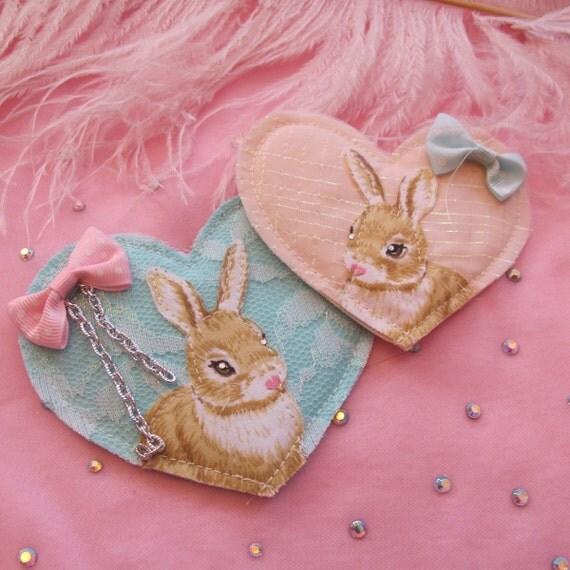 Bunny Heart Badge Set